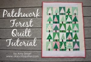Patchwork Christmas Tree Quilt Block FREE Tutorial