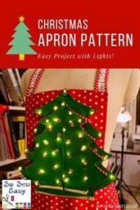 Santa Christmas Apron FREE Sewing Pattern