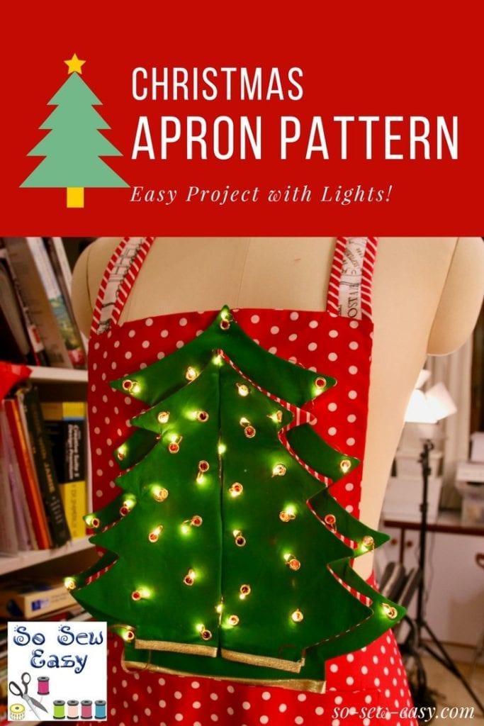 Santa Christmas Apron FREE Sewing Pattern