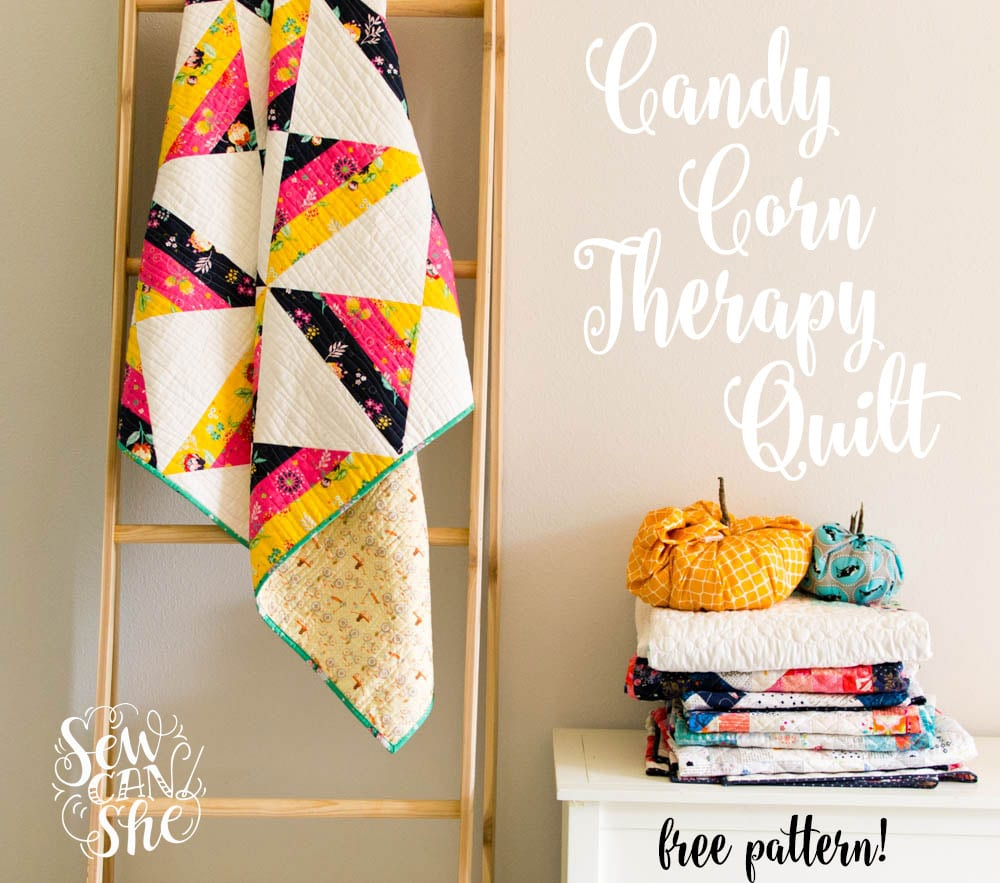 Candy Corn Quilt Free Tutorial