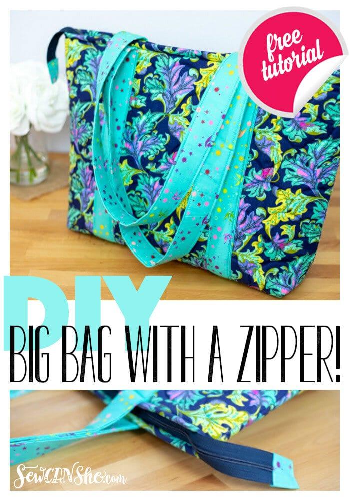 Big Tote Bag with a Zipper