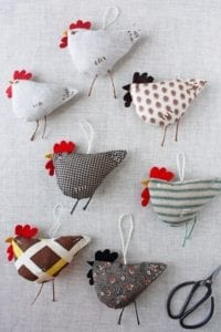 Chicken Ornament FREE Sewing Pattern