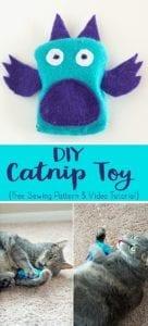 DIY Catnip Toy FREE Sewing Pattern