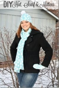 DIY Hat Scarf Mittens FREE Sewing Tutorial