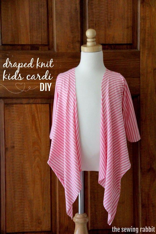 Draped Knit Kids Cardi  FREE Sewing Tutorial