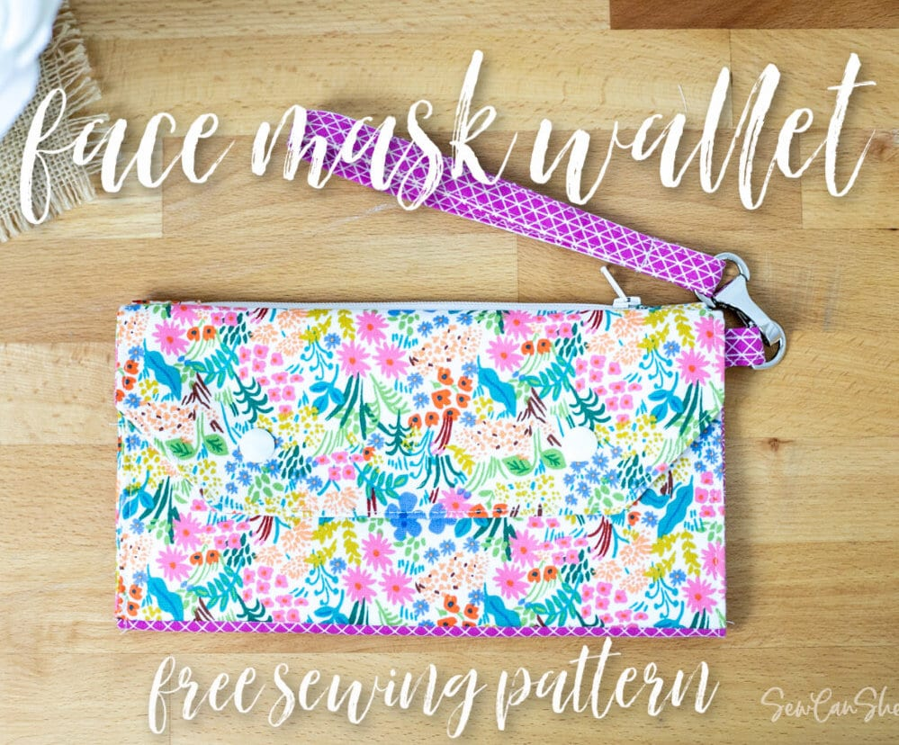 Face Mask Wallet FREE Sewing Tutorial