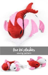 Love Koi Plushies FREE Sewing Pattern