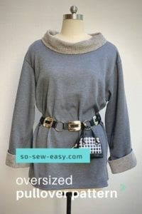 Oversized Pullover Top FREE Sewing Pattern and Tutorial
