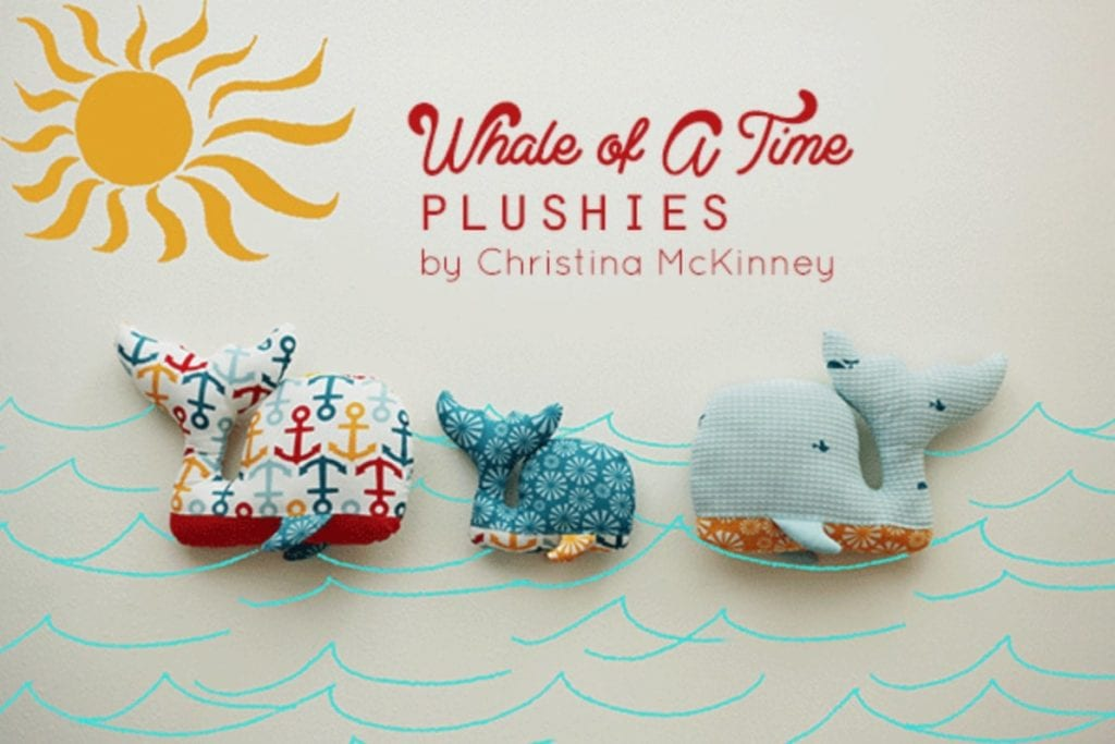 Whale Plushies FREE Sewing Pattern