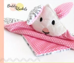 Animal Buddy Blankets FREE Sewing Pattern
