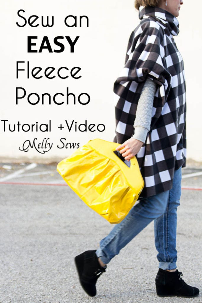 DIY Fleece Poncho FREE Sewing Tutorial