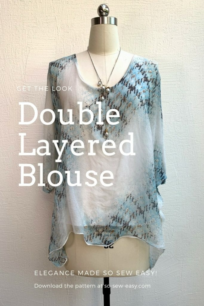 Double Layered Blouse FREE Sewing Pattern