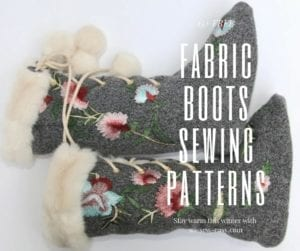 FREE Fabric Boots Sewing Patterns