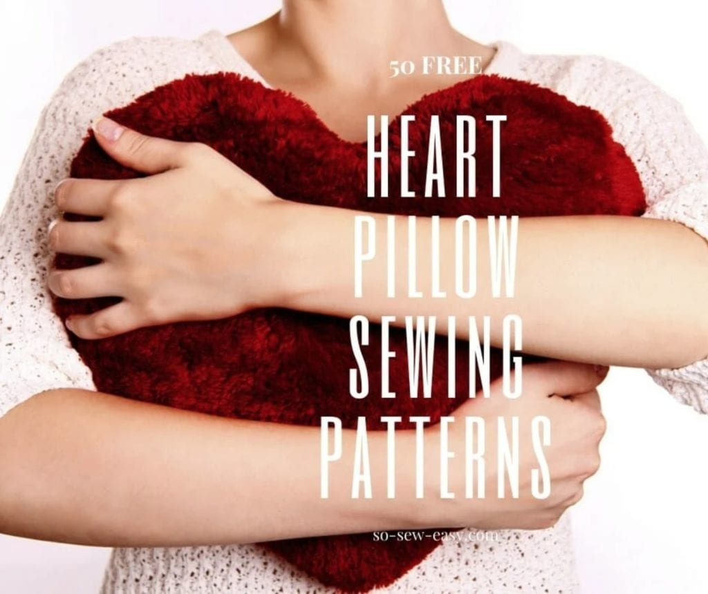 FREE Heart Pillow Sewing Patterns