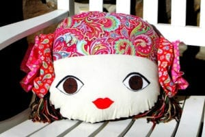 Doll Face Pillow FREE Sewing Pattern