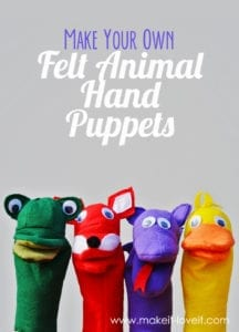 Hand Puppets FREE Sewing Pattern