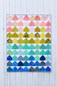 House quilt block free tutorial