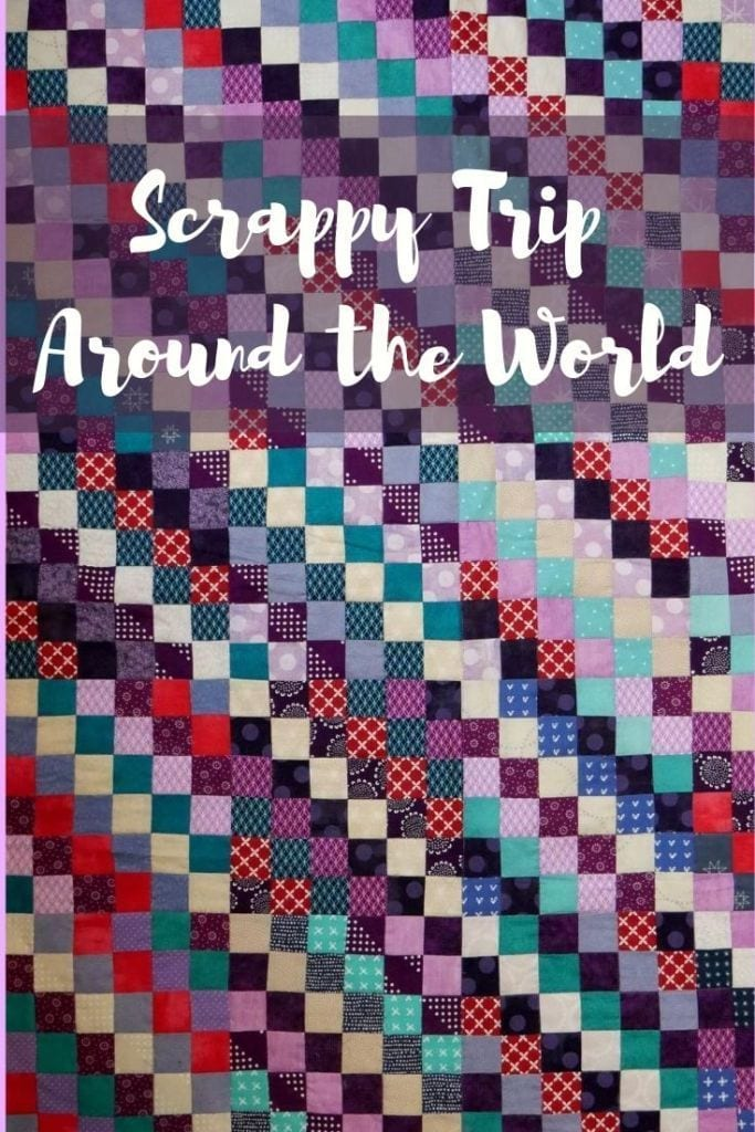 Scrappy Trip Around the World Quilt Block