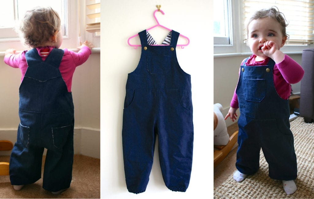 Toddler Dungarees FREE Sewing Pattern