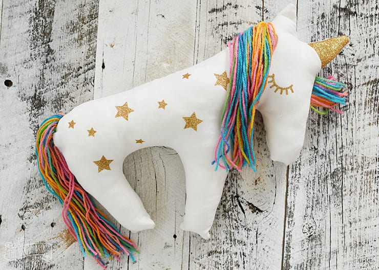 Unicorn Plush Pillow FREE Sewing Pattern