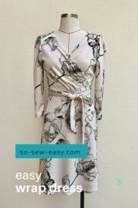 Easy Wrap Dress FREE Sewing Pattern
