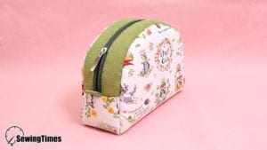 Zipper Round Pouch Bag FREE Sewing Tutorial