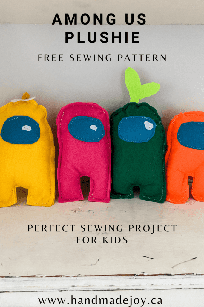 Among Us Plushie Free Sewing Pattern