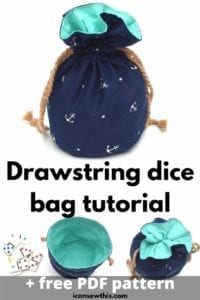 Drawstring Dice Bag FREE Sewing Pattern