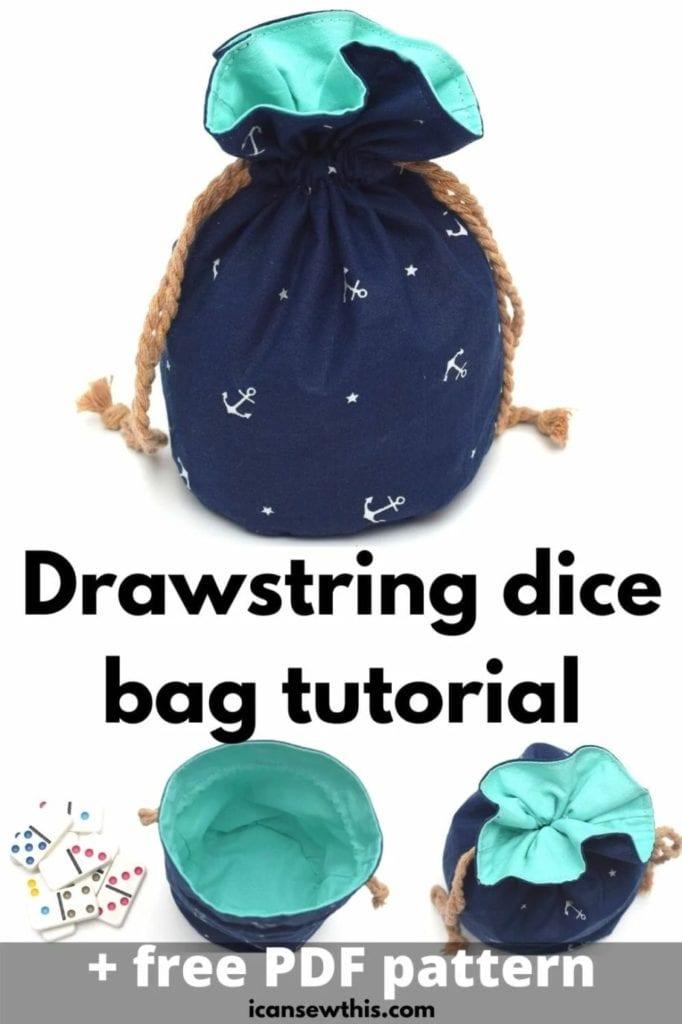 Drawstring Dice Bag FREE Sewing Pattern