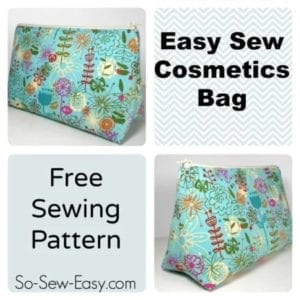 Easy Cosmetics Bag FREE Sewing Pattern