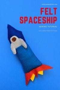 Felt Spaceship Toy Sewing Tutorial