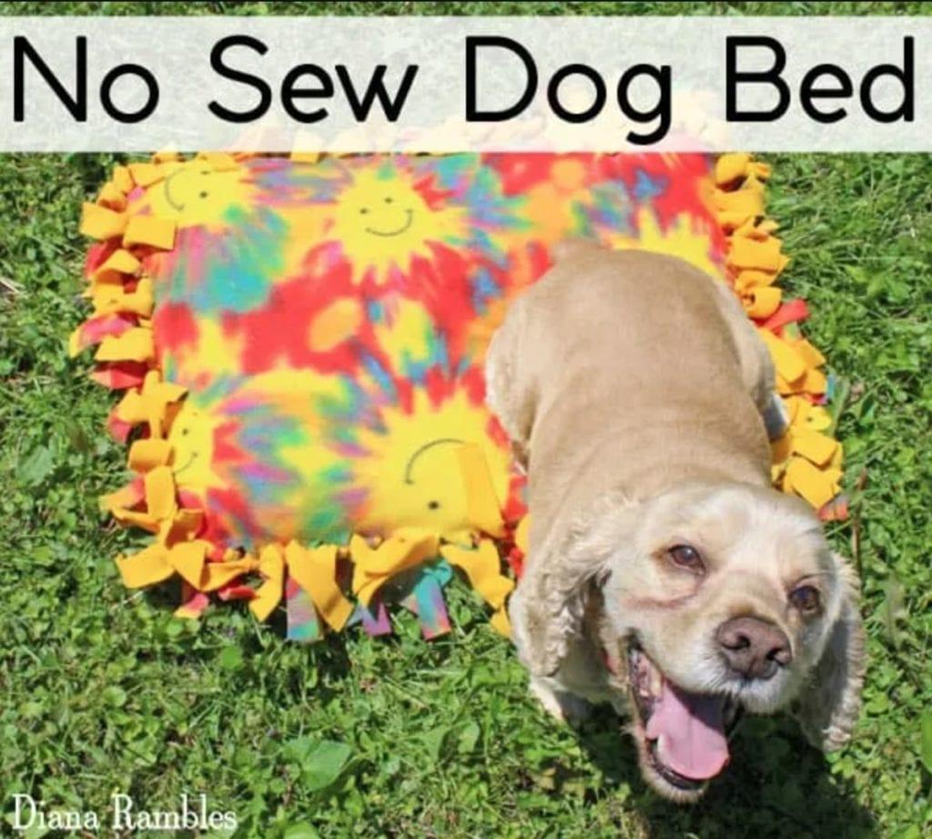 No-Sew Dog Bed FREE Tutorial