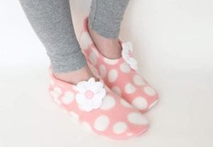 Fleece Slipper FREE Sewing Pattern