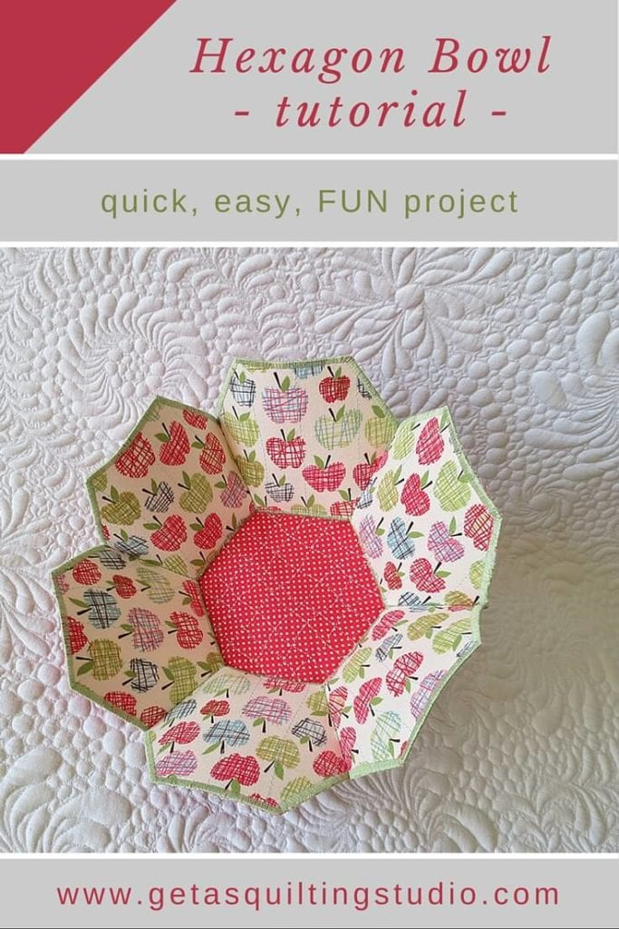 Hexagon Bowl Free Sewing Tutorial