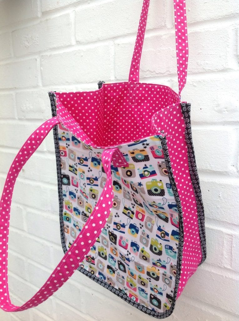 Instamatic Tote Bag FREE Sewing Pattern