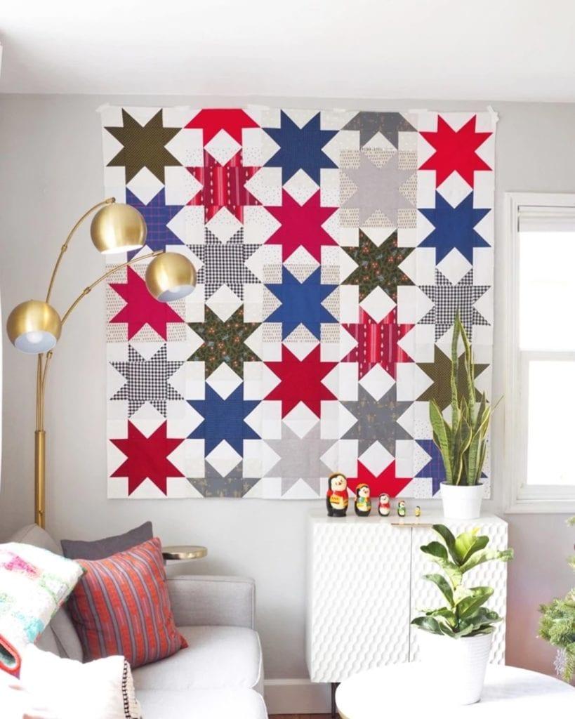 Offset Star Quilt Free Pattern