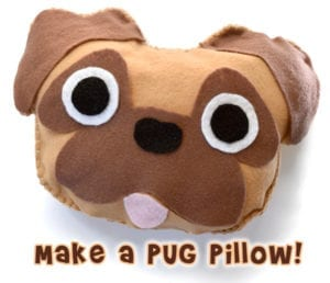 Pug Pillow FREE Sewing Pattern
