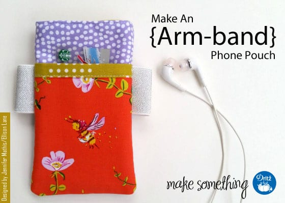 Arm-band Phone Pouch FREE Sewing Tutorial