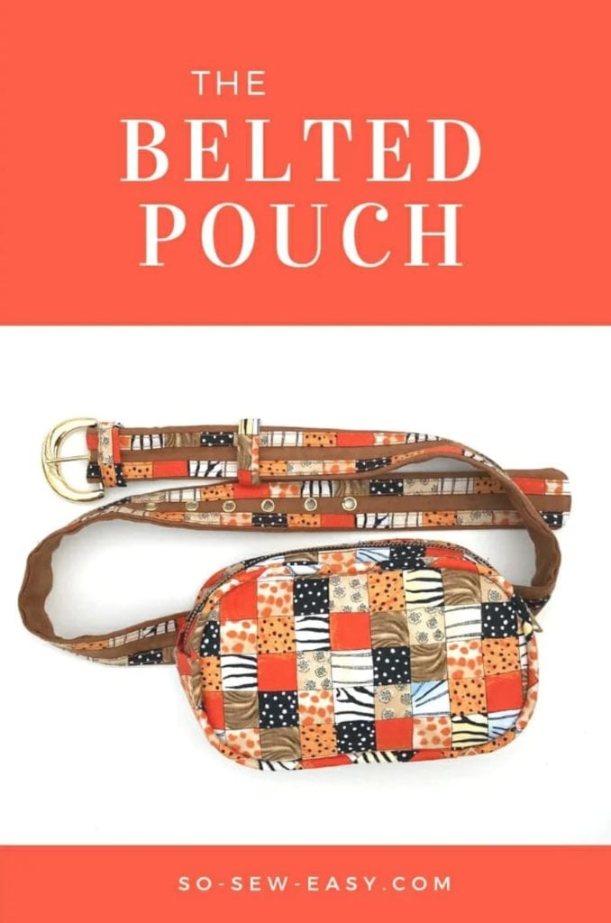 Belted Pouch FREE Sewing Pattern