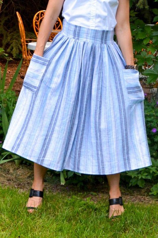 Midi Skirt FREE Sewing Tutorial