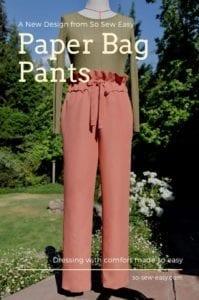 Paper Bag Pants FREE Sewing Pattern