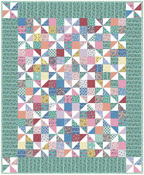 Pinwheel Fancy Quilt FREE Tutorial