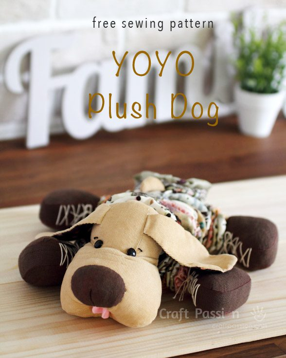 YoYo Plush Dog FREE Sewing Pattern