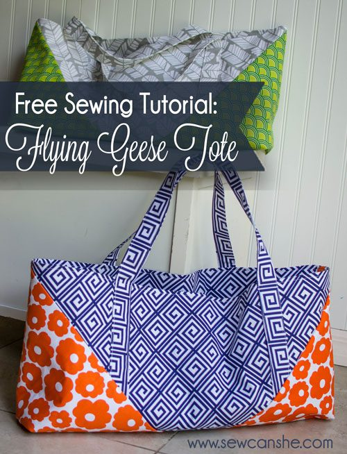 Flying Geese Tote FREE Sewing Tutorial