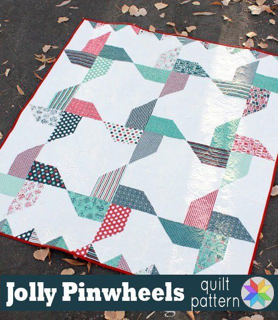 Jolly Pinwheels Quilt FREE Tutorial