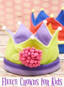 Kids Fleece Crown FREE Sewing Pattern