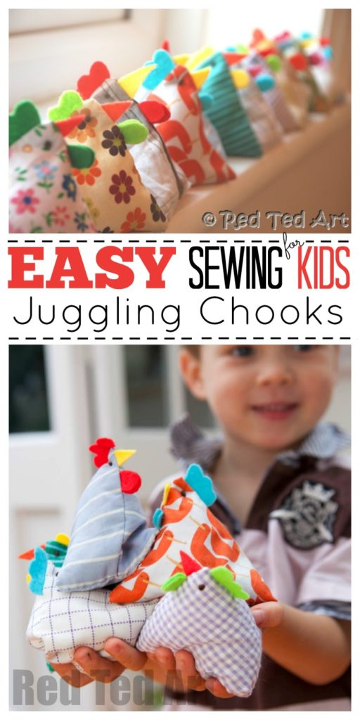 Pyramid Bean Bag Chickens FREE Sewing Tutorial