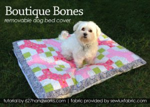 Removable Dog Bed Cover FREE Tutorial