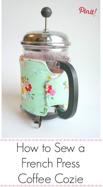 Coffee Press Cozie FREE Sewing Tutorial