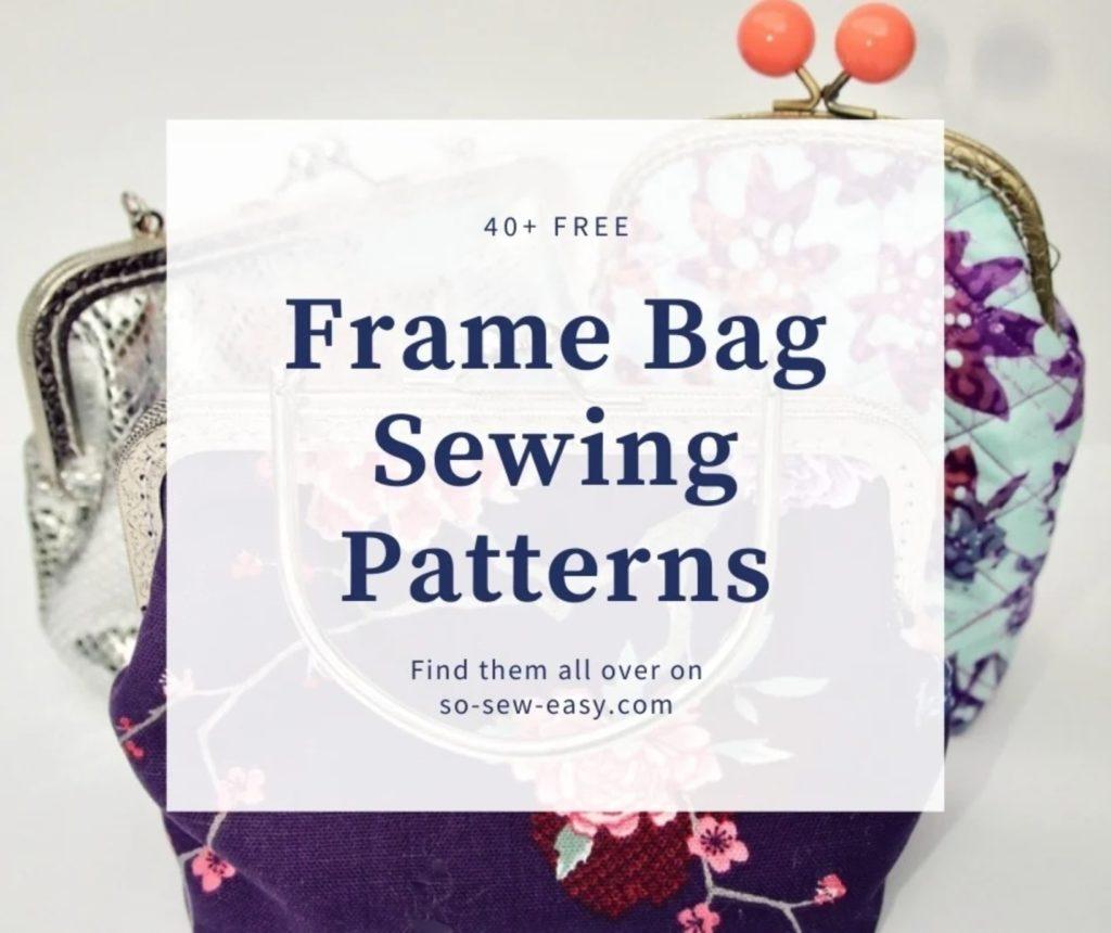 FREE Frame Bag Sewing Patterns